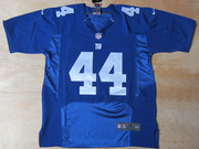 2012 Giants #44 Ahmad Bradshaw #80 Victor Cruz Blue Elite Jersey