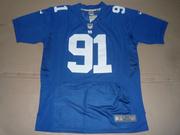 2012 Giants #91 Justin Tuck #90 Jason Pierre-Paul Blue Elite Jersey