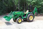 2007 John Deere 4320 w/ 400CX Loader,  485 Backhoe