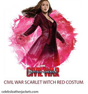 CIVIL WAR SCARLET WITCH RED COSTUME