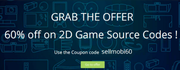 60% off on 2D Game Source Code