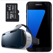 Samsung Galaxy S7 Edge SM-G935F + Gear VR + 64GB SD Card (FACTORY UNLO