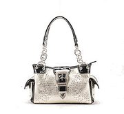 Women Rhinestone Cross Western Conceal And Carry Handbag