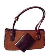 Argentine Leather Butterfly Under Arm Tote Purse For $95