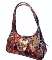 Brilliantly Styled Floral Leather Shoulder Handbag For $215