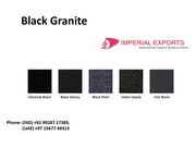 Cambrian Black Granite US Imperial Exports India