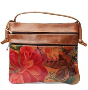Genuine Floral Leather Crossbody Bag For $75