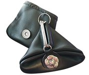 Argentine Leather - Vintage Styled Coin Holder with Key Ring For $26