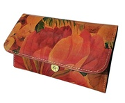 100% Argentinean Floral Leather Ladies Wallet For $85