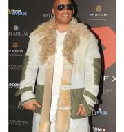 Movie Premiere Vin Diesel Fur Coat