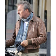 3 DAYS TO KILL KEVIN COSTNER BROWN BOMBER JACKET