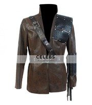 Arrow Dark Archer Malcolm Merlyn Leather Coat