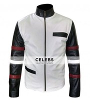 BRUCE LEE POPULAR VINTAGE CLASSIC WHITE CASUAL LEATHER JACKET