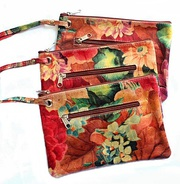 Argentinean Floral Printed Leather Wristlet Pouch For $39