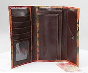 Argentinean Floral Leather Clutch - Organizer Wallet For $75