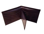 Croc' Embossed Chocolate Brown Argentinian Leather Men's Window Wallet
