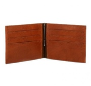 Cowhide Polo Player Money Clip Credit Card Wallet - EB/IND-25 For $75