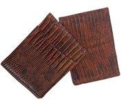 Authentic Teju Lizard Skin Men's Bi-Fold Wallet - JC-LC/20 For $95