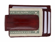 100% Authentic Eel Skin Money Clip / Credit Card Wallet with ID Window