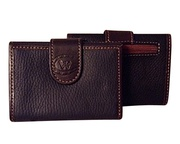 100% Pebbled Argentinian Leather Tri-Fold Uni-Sex Wallet For $65