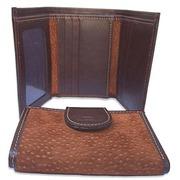 Genuine Carpincho Unisex Tri-Fold Wallet For $75