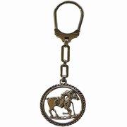 Alpaca silver Polo Player Keyring Key Chain For $35