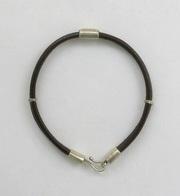 Sterling Silver & Leather Bracelet For $45