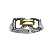 Solid Sterling Silver & 18kt Gold Equestrian