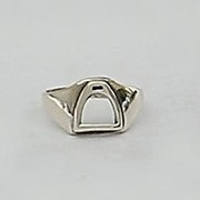 Solid Sterling Silver Iron Riding Stirrup Ring For $45