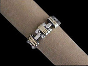 Companion bands Ring of solid .925 sterling silve and 18kt gold