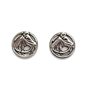 Solid Sterling Silver Horse Head Stud Earrings For $45