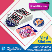 Brilliant Designs of Vinyl Stickers Printing Services| RegaloPrint