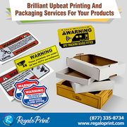Brilliant Upbeat Printing and Packaging Services for Your Products