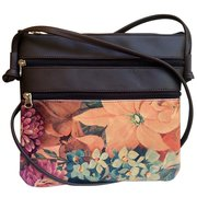 Genuine Floral Leather Cross-Body Bag For $75
