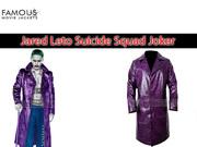 Jared Leto Suicide Squad Joker Crocodile Purple Coat