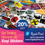 Get Thrilling 20% Discount On Vinyl Stickers | RegaloPrint