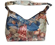 Argentinian Floral Leather Bag Over Sized Studded Hobo Bag For $185