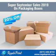 20% Super September Sales 2019 on Packaging Boxes | RegaloPrint