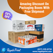 Amazing Discount on Packaging Boxes with Free Shipment | RegaloPrint