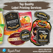 Top Quality Label Printing Services | RegaloPrint