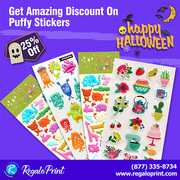 Get 25% Discount on Puffy Stickers,  Happy Halloween | RegaloPrint