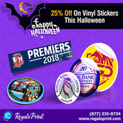 25% off on Vinyl Stickers This Halloween | RegaloPrint