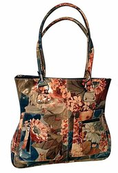100% Argentinean Floral Leather Bag - Slender Lines & Roomy For $165