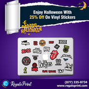 Enjoy Halloween with 25% off on Vinyl Stickers | RegaloPrint