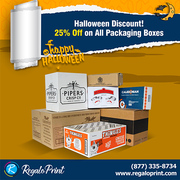 Halloween Discount! 25% Off on All Packaging Boxes | RegaloPrint