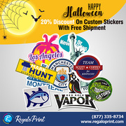 20% Discount On Custom Stickers with Free Shipment | RegaloPrint