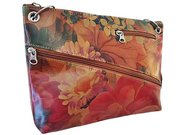 Argentinian Floral Leather Bag - Cross-body Style For $125