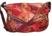 Uniquely Beautiful Argentine Floral Leather Bag - Over Sized - PI-AF/5