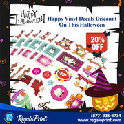 Happy Vinyl Decals Discount On This Halloween | RegaloPrint