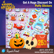 Get A Huge Discount Of 25% On Puffy Stickers | RegaloPrint